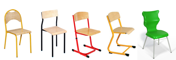 Krzesło Szkolne Nysa Nr 5 Lub 6 Krzesła Szkolne