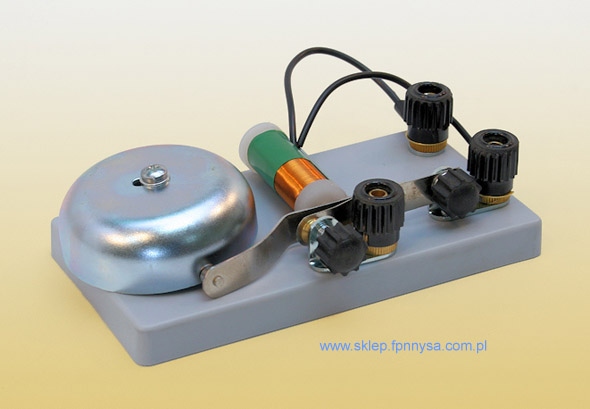 Zestaw elementów do montażu dzwonka elektrycznego dla ucznia