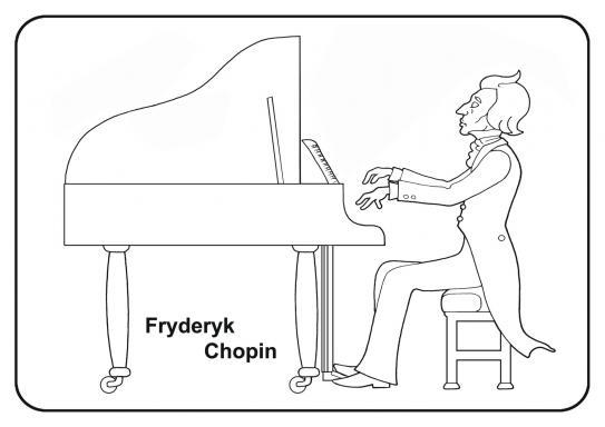 Fryderyk Chopin Kolorowanka