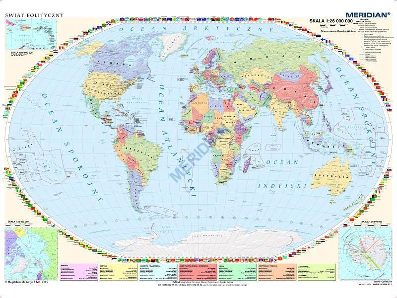 Mapa Polityczna Swiata Stan Na 2014 200x150cm Sklep Fpn Nysa